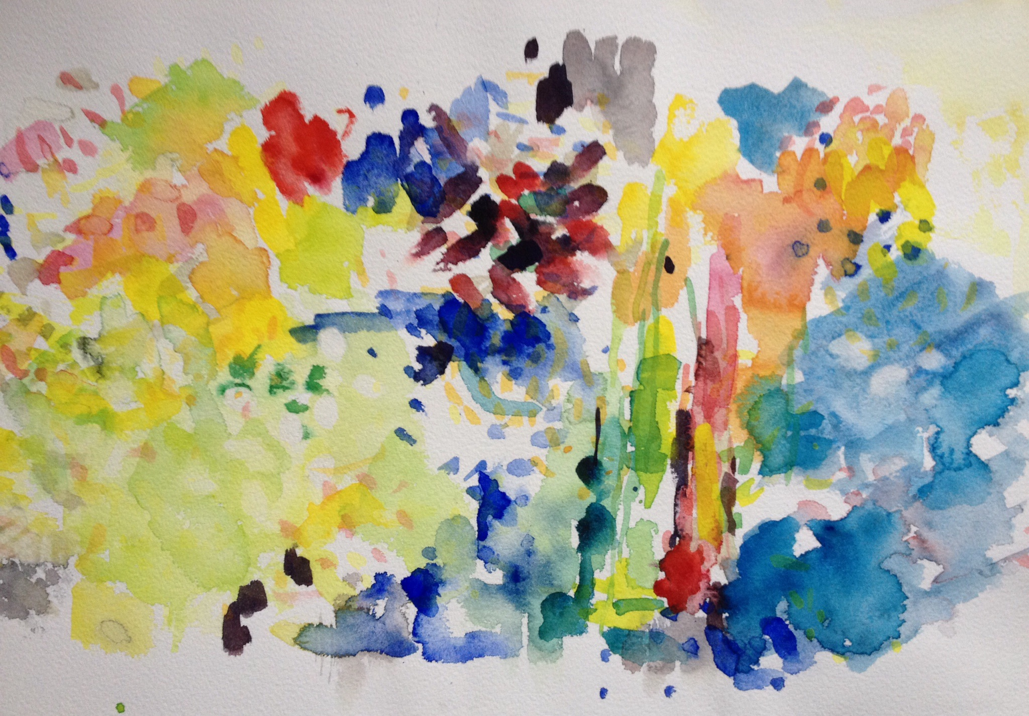 Watercolour Abstract with Spots