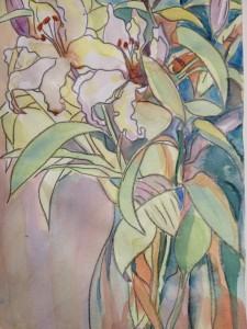 lilies closeup