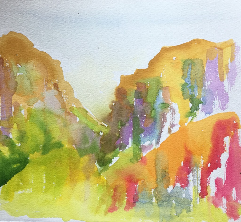 Watercolour painting of Asturias