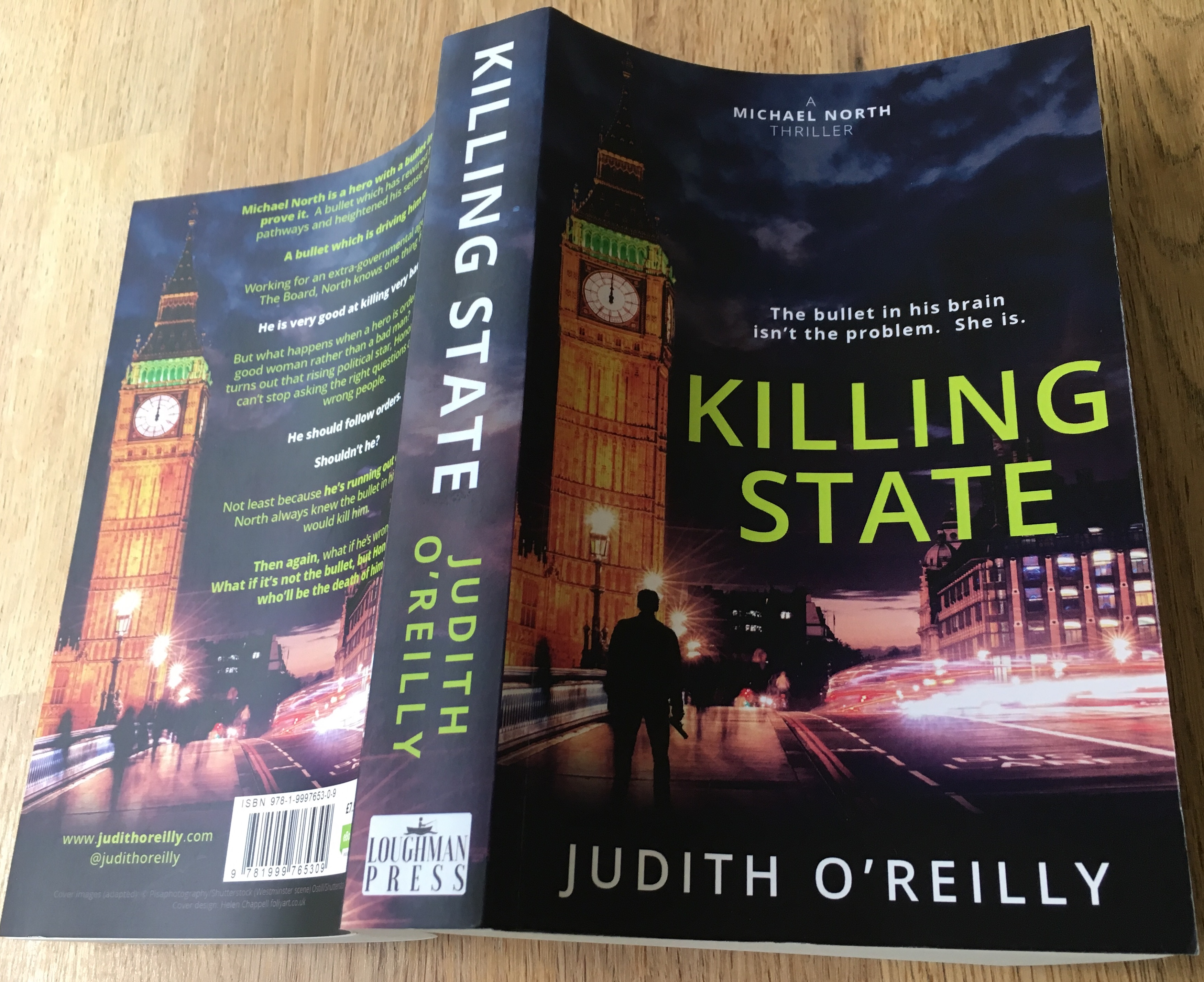 Killing State novel open to show cover
